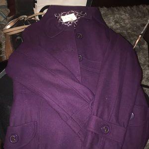 Purple juniors pea coat